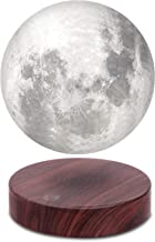 VGAzer Levitating Moon Lamp,Floating and Spinning in Air Freely with Luxury Faux Wooden Base and 3D Printing LED Moon Light,for Unique Gifts,Room Decor,Night Light,Office Desk Tech Toys - 6 Inch