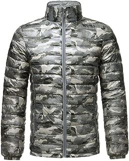 Winter Warm Down Jacket Men Camouflage Padded Cotton Long Sleeve Thin Lightweight Outwear Coat