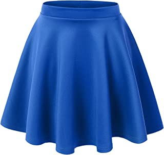 7d3f291e3d Made By Johnny Women's Basic Versatile Stretchy Flared Casual Mini Skater  Skirt XS-3XL Plus