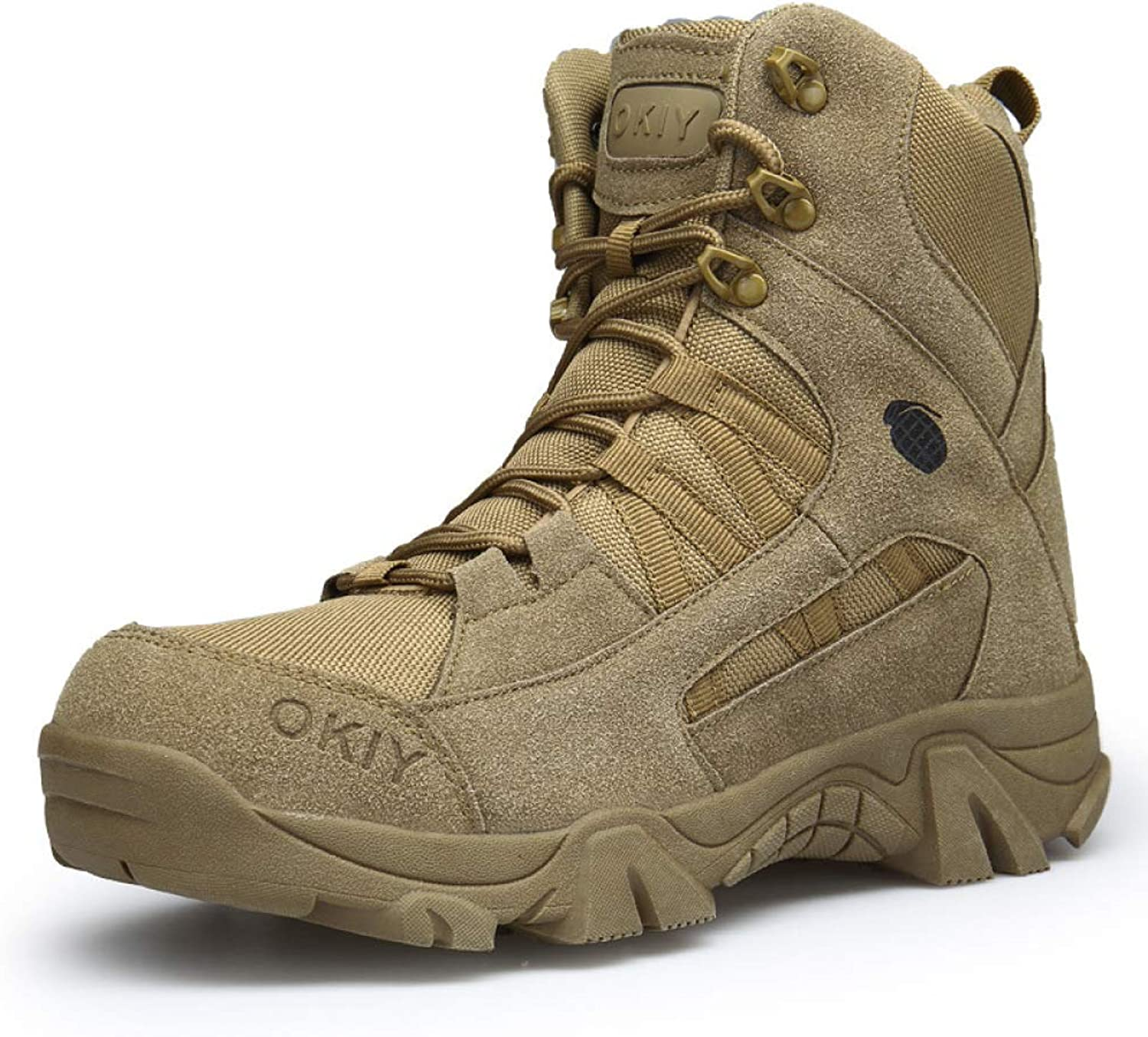 Mens Desert Armed Tactics Boots Outdoor Mountaineering Lace-Up Leather Footwear Jungle Military Army Police Combat shoes