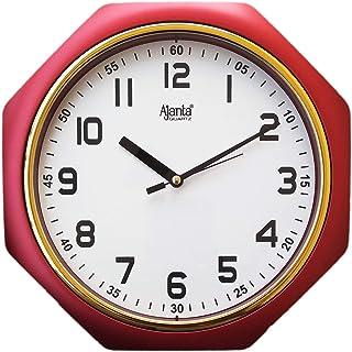 Ajanta Plastic Wall Clock (24.5 cm x 24.5 cm x 3.8 cm, Red)