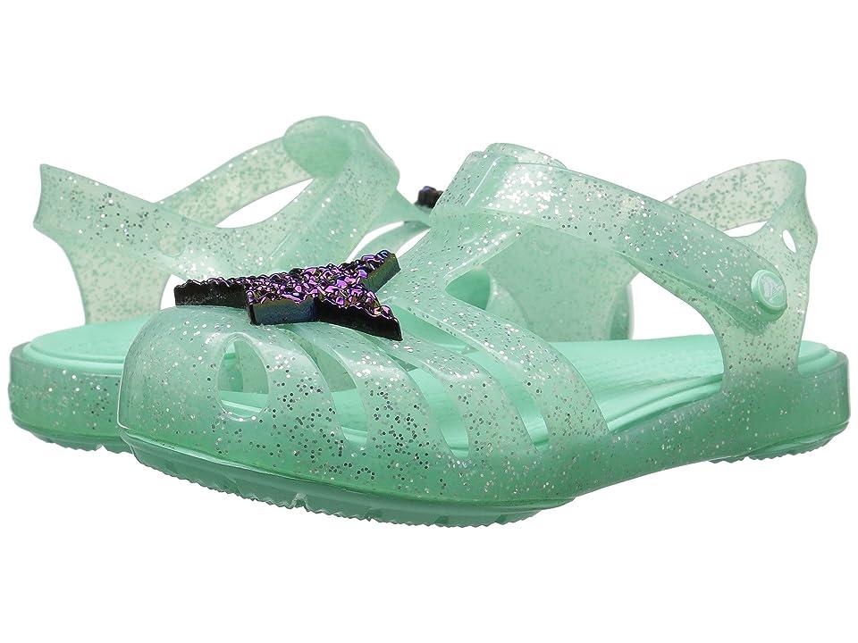 Crocs Kids Isabella Novelty Sandal (Toddler/Little Kid) (Mint) Girls Shoes
