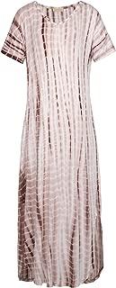 Kate Kasin Women Short Sleeve Loose Fit Maxi Dress KK701