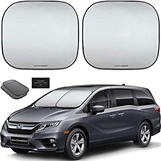 Best Autoamerics Windshield Sun Shade 2-Piece Foldable Car Front Window Sunshade for Full Size SUV Truck Tesla - Auto Sun Blocker Visor Protector Blocks Max UV Rays and Keeps Your Vehicle Cool - (X-Large) Review