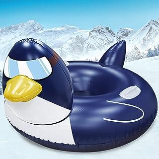 لوله برفی پنگوئن غول پیکر TURNMEON 63 اینچ ، سورتمه برفی بادی زمستانی برای بزرگسالان دارای پشتی پشتی 0.6 میلی متر ضخیم بادی لوله برفی رودخانه سوار شناور سورتمه حمل