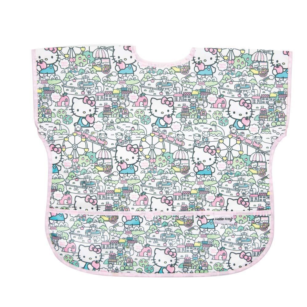 Bumkins Junior Bib, Short Sleeve Toddler Bib, Smock for Kids 1-3 Years, Waterproof Fabric – Sanrio Hello Kitty