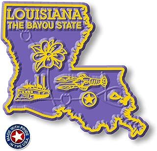 Louisiana State Map Magnet