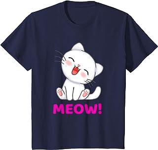 Enfant Cute Cartoon Meow Cat Animal T-Shirt