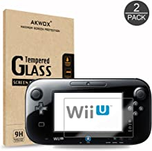 (Pack of 2) Tempered Glass Screen Protector for Nintendo Wii U, Akwox [0.3mm 2.5D High Definition 9H] Premium Clear Screen...