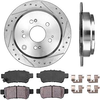 REAR 334mm D//S 5 Lug Clips Brake Pads Rotors 4 fit Acura MDX ZDX Honda Pilot Callahan CDS02123 FRONT 330mm