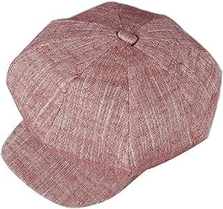 iSpchen Cr/éatif B/éret Chapeau Loisir Femmes B/éret Coton Casquette Bonnet Chapeau Visi/ère Vin Rouge