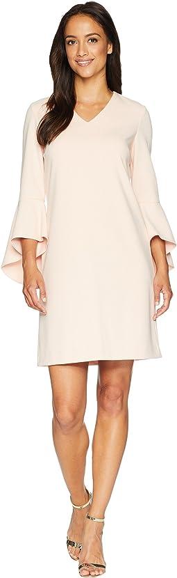 Bell Sleeve Shift Dress