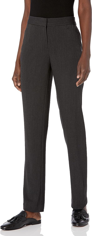 Rafaella Women's Curvy Fit Short InseamGabardine Slim Leg Pant at  Women's Clothing store