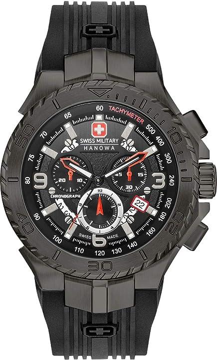 Orologio swiss military hanowa seaman chrono horloge 06-4329.13.007.07
