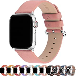 Fullmosa 15 Colors For Apple Watch Bands 38Mm, Yan Calf Leather Replacement Band/Strap With Stainless Steel Clasp For Iwat...
