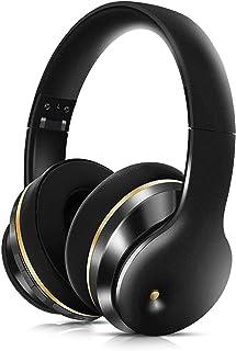 سماعات بلوتوث وسماعات رياضية لاسلكية وسماعات رأس لاسلكية فوق الأذن مع بلوتوث عميق وسماعات ستيريو سلكية,Black
