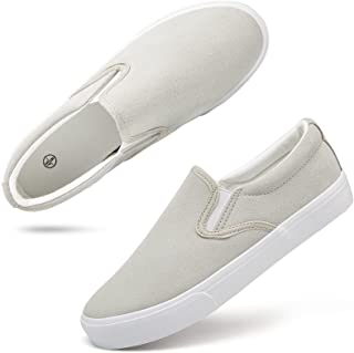 Women's Slip On Shoes Low Top Canvas Sneakers Fashion Casual Shoes