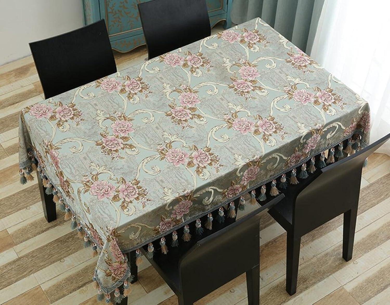 WAZY Tischtuch Tischdecke Tuch Läufer Tee Tischdecke Rechteckig Home Wohnzimmer Western Tischdecke Tisch Couchtisch Dirty Easy to Clean (Farbe   Grün, größe   140180cm) B07CTKB14Y Marke    | Verschiedene aktuelle Designs