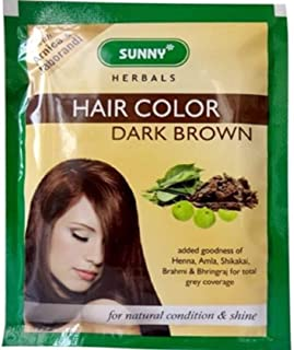 Sunny Health & Fitness Herbals Hair Color (Brown -Light/Dark)- Pack Of 12