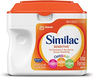 Similac Sensitive Infant Formula with Iron, For Fussiness and Gas, Baby Formula, Powder, 1.41 lb