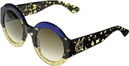 Shiny Glitter Blue/Havana/Glitter Gold