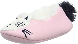 Joules Junior Character Slippers - True Pink Cat