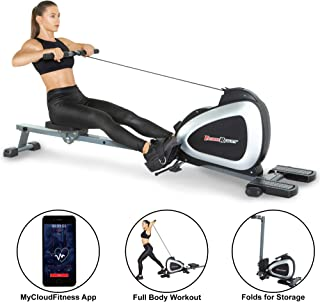Fitness Reality 1000 Plus Bluetooth Magnetic Rower Rowing Machine with Extended Optional..
