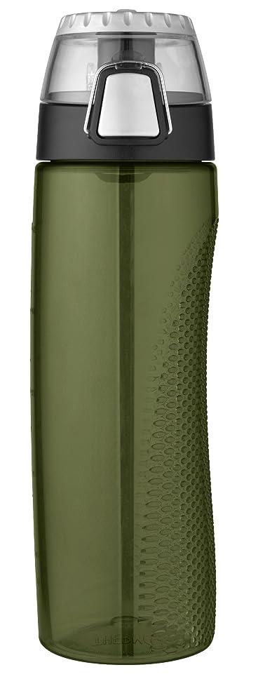 電話する悲しむパーツ(Olive Green) - Thermos Tritan Hydration Bottle with Metre, 710ml