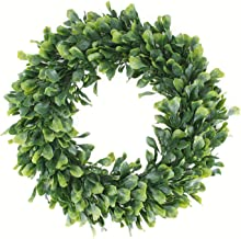 Geboor Faux Boxwood Wreath, 15