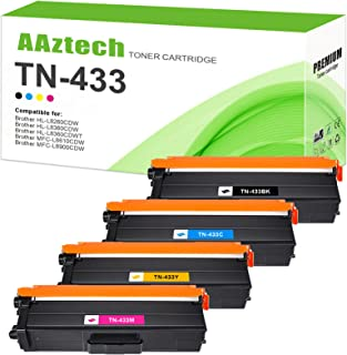 Best A Aztech Compatible Toner Cartridge Replacement for Brother TN433 TN-433 TN433BK TN431 for Brother MFC-L8900CDW HL-L8360CDW HL-L8260CDW MFC-L8610CDW HL-L8360CDWT (Black, Cyan, Yellow, Magenta, 4-Pack) Review