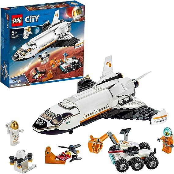 LEGO 60226 City Lanzadera Científica a Marte, Nave Espacial de Juguete con Mini Figuras de Astronautas, Inspirado por la NASA