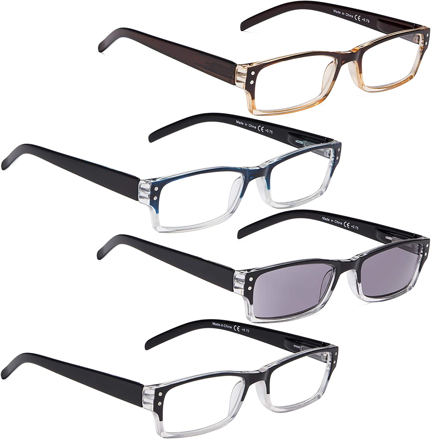 READING 70% OFF Outlet GLASSES 4 pack Include Sunshine Popularity Readers Women and for Me