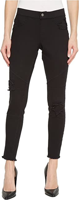 HUE - Star Patch Denim Moto Skimmer