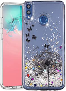 ISADENSER Huawei Honor 8X Cover Glitter 3D Fancy Luxury Design Wallet with Card Holder Cash Slots Kickstand Shockproof PU Leather Folio Flip Cover for Huawei Honor 8X
