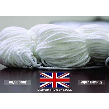 Round Elastic Cord For Masks 50 Meters Densco Elastic Band White