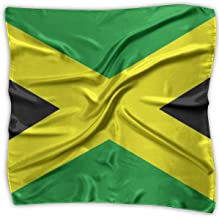 Silk Scarf Women¡¯s Large Square Satin Hair Scarf Jamaican Flag