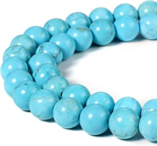"""Natural Manual creation 8mm natural turquoise round bead necklace 18/"""""""
