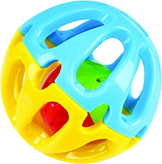 KidSource Shake and Roll Ball - Baby Toy for Sensory Play - Promotes Fine Motor Skills for Infants Ages 6 Months and Up
