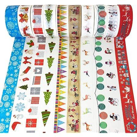 MIAHART 20 Rollen Weihnachten Washi Tape Set Weihnachten Masking Tape Dekorative Holiday Washi Tape Geschenkverpackung Tape f/ür Weihnachtsfeier Dekorationen