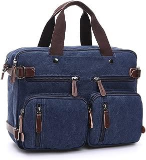Hexiaoyi Men Womens Multipurpose Vintage Canvas Messenger Shoulder Satchel Crossbody Tote Bag Portable DSLR Camera Briefcase Handbag Color : Blue