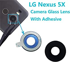 Alovexiong Black Back Rear Camera Really 100% Glass Lens Cover with Adhesive Fix Repair Replacement for LG Nexus 5X H791 H791 H795