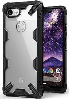 جراب شفاف من رينجكي مقاوم للصدمات لهاتف جوجل بيكسل 3 اكس ال (Google Pixel 3 XL)- شفاف باطار اسود