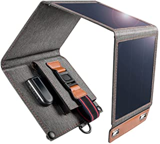 Tragbar Solar Ladegerät,14W Solar Ladegerät Outdoor Faltbares Wasserdichtes Solar Ladegerät mit USB Anschluss- Allen Handy...