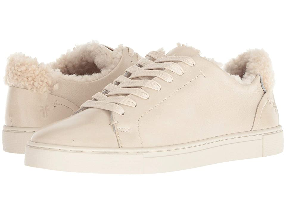 Frye Ivy Low Lace (Off-White Polished Soft Full Grain/Shearling) Women