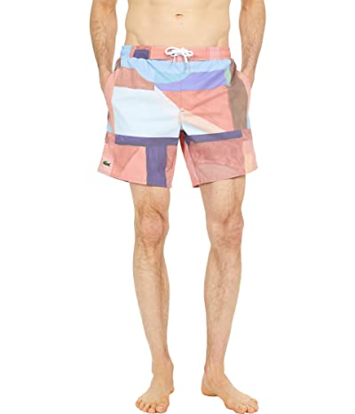 Lacoste Graphic Printed Swim Trunks Men