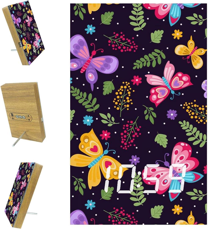 imobaby Discount is also underway Alarm Clock Dark Butterflies LED wi Digital Leaves Super sale