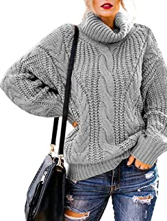Vicbovo Clearance Womens Crewneck Color Block Plus Size Sweater Casual Long Sleeve Loose Chunky Knit Pullover Jumper Tops