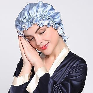 e12e896c048 LilySilk Pure Silk Lined Cap for Women Sleep