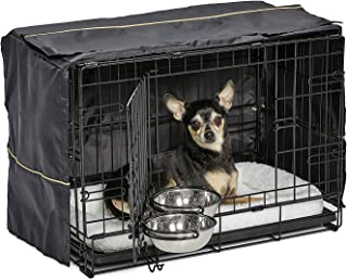 iCrate Dog Crate Starter Kit | 22-Inch Dog Crate Kit Ideal for XS Dog Breeds Weighing Up to 12 Pounds | Includes Dog Crate...