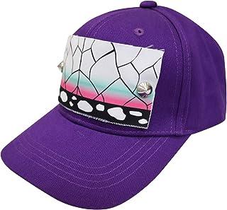 鬼滅の刃風キャップ 胡蝶 しのぶ モデル キャップ 野球帽 帽子 スポーツ 調整可能 カジュアル cap